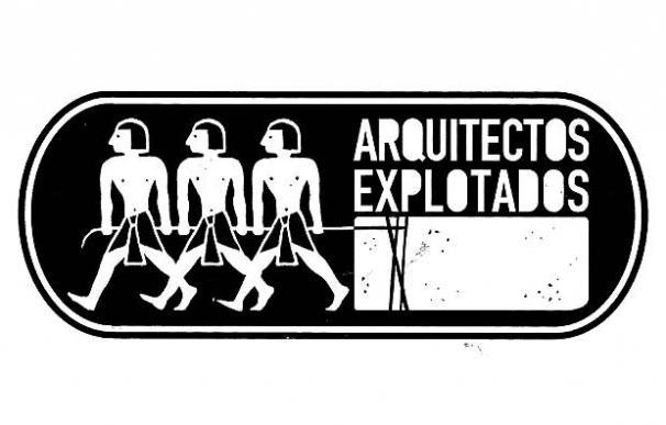 Una de las imagenes con las que se dio a conocer la organización Arquitectos Explotados