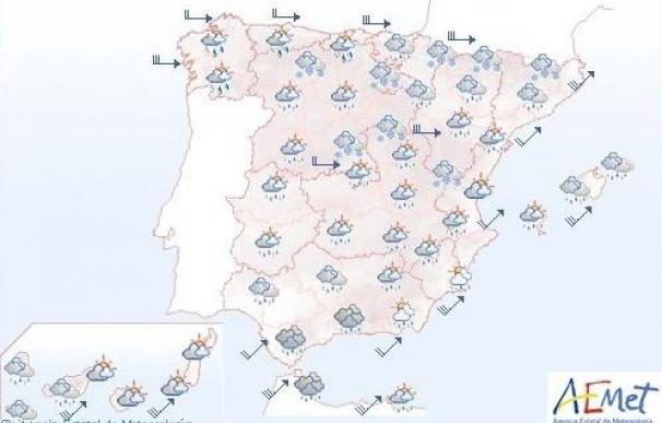 Suben las temperaturas mínimas y la cota de nieve baja a 700 metros en norte