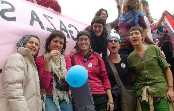 Activistas internacionales se manifiestan en Gaza contra el bloqueo israelí