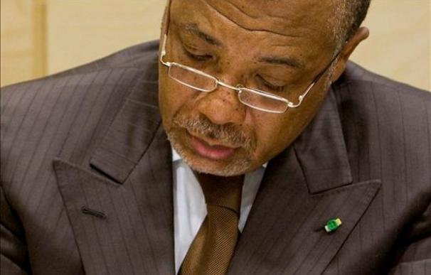 El antiguo dictador de Liberia, Charles Taylor, durante su juicio en La Haya | EFE