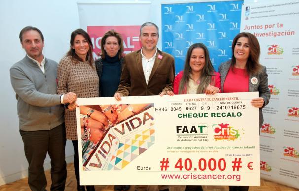 Las mujeres taxistas consiguen recaudar 40.000 euros para la investigación de cáncer infantil