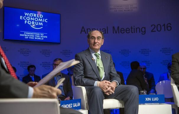 José Ignacio Sánchez Galán, en el foro de Davos