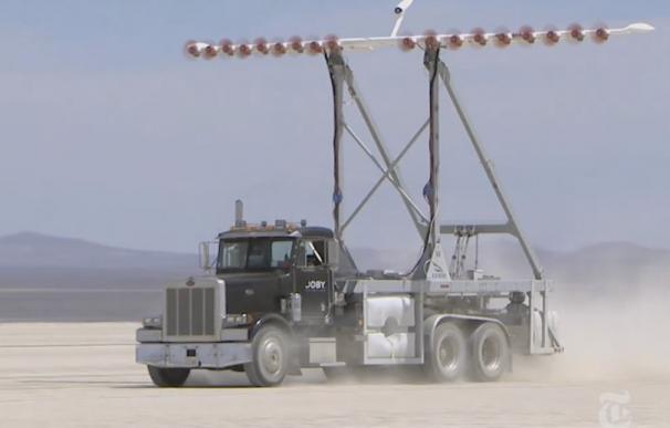 Captura del vídeo de The New York Times que muestra el proyecto de la NASA
