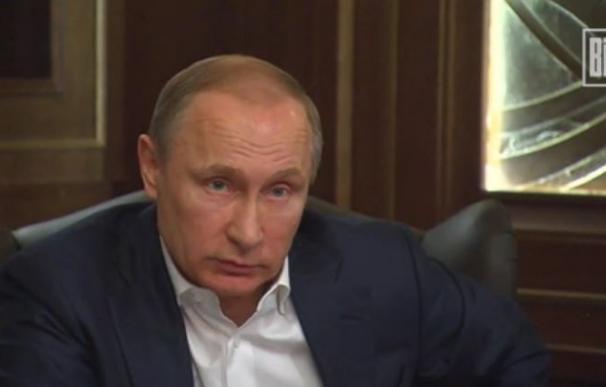 Vladimir Putin en la entrevista del periódico alemán 'Bild'.
