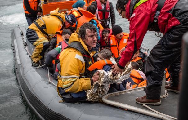 Uno de los botes rescatados en el mar Egeo