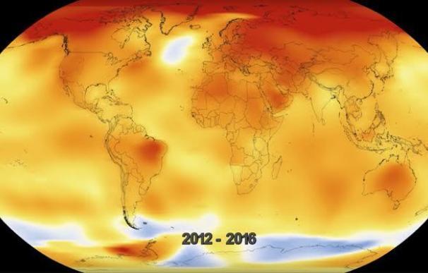 Un vídeo muestra 136 años de cambio climático en 20 segundos