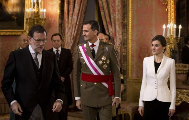 Mariano Rajoy junto al Rey en la Pascua Militar.