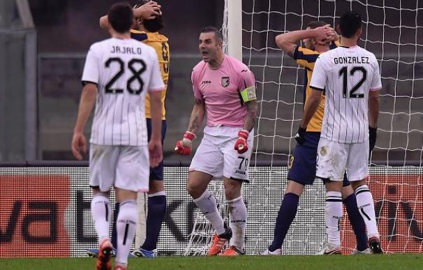 El Palermo jugó su último partido...¡sin entrenador! / Getty Images.