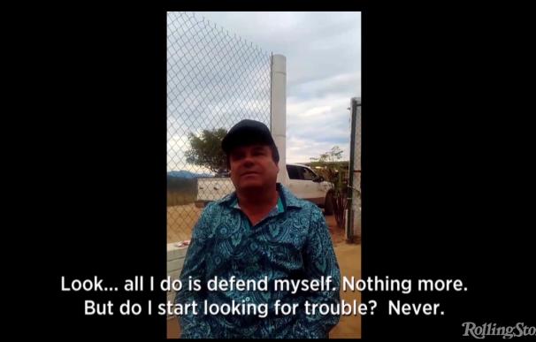 Captura del vídeo de la entrevista de 'El Chapo' Guzmán para RollingStone