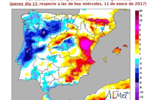 Las máximas subirán cinco grados este jueves en Valencia y hasta ocho en algunos puntos de la Comunitat