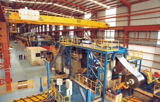 El Grupo Gallardo prevé retomar en marzo la producción de acero galvanizado y prepintado en Jerez de los Caballeros
