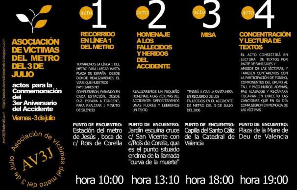 Aniversario del accidente en el Metro de Valencia