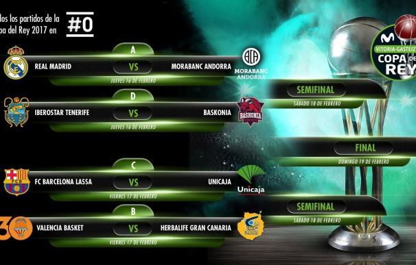 Real Madrid-MoraBanc, Barça-Unicaja, Baskonia-Tenerife y Valencia-Herbalife, duelos de cuartos