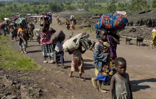 La reanudación de las hostilidades en el este de RDCongo provoca 35.000 nuevos desplazados, según ACNUR