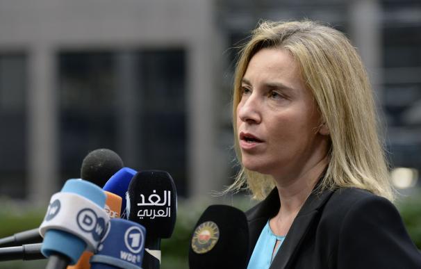La Alta Representante de la Unión Europea, Federica Mogherini
