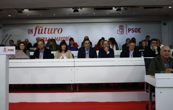 La Ejecutiva socialista, en el Comité del pasado diciembre.
