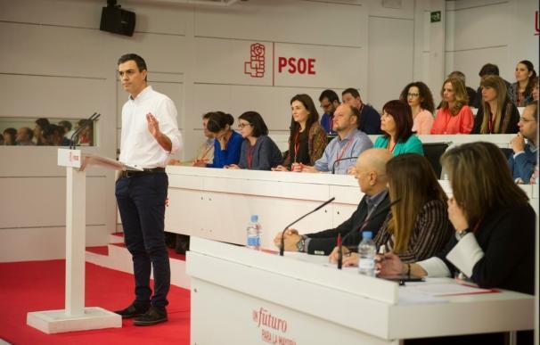 Sánchez, en su intervención en el Comité federal del PSOE.