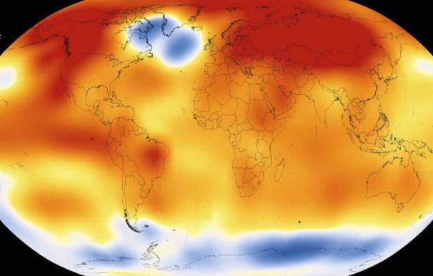 Mapa de la temperatura global del planeta (NASA)