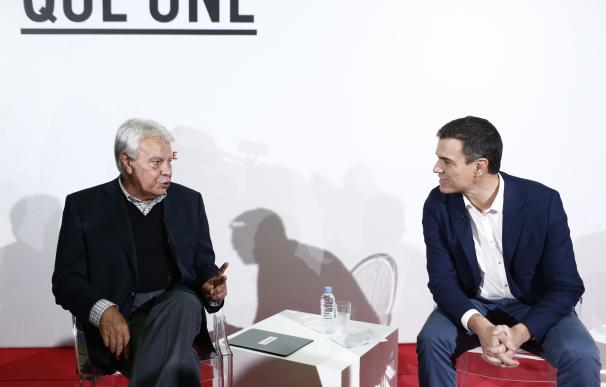 Pedro Sánchez y Felipe González estarán este martes en Badajoz, en su único mitin juntos en campaña