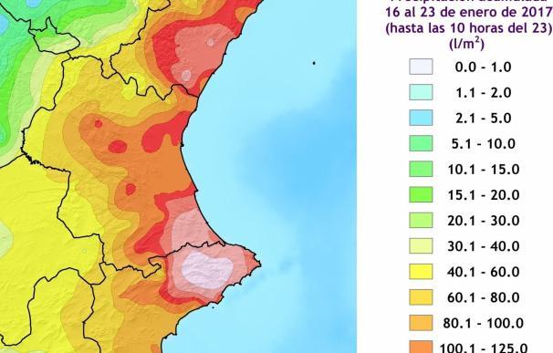 Emergencias da por finalizado el temporal que ha dejado más de 300 l/m2 en el norte de Alicante