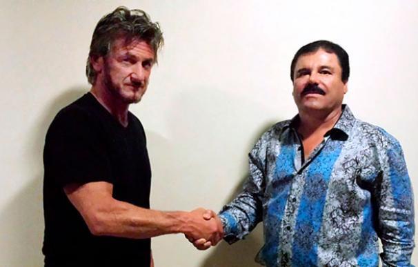 El actor Sean Penn y Joaquín 'El Chapo' Guzmán (Foto: Rolling Stone)