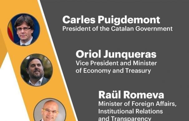 Puigdemont y Junqueras viajan a Bruselas este martes para defender un referéndum pactado