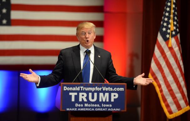 Donald Trump durante un mitin en la campaña electoral