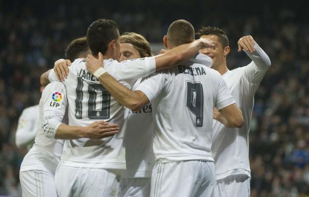 El Real Madrid arraso al Espanyol. / AFP