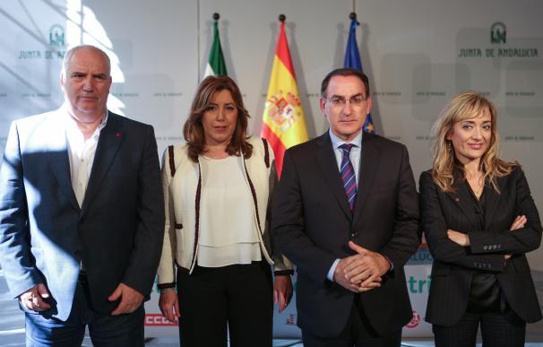 AMP-Junta, sindicatos y CEA firman el Pacto por la Industria para movilizar 8.000 millones y recuperar empleo de calidad