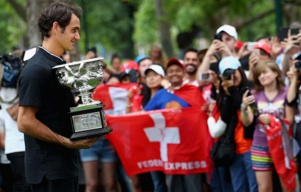 """Federer: """"Lo que me hace más feliz es ver a mis amigos y a mi familia tan contentos"""""""