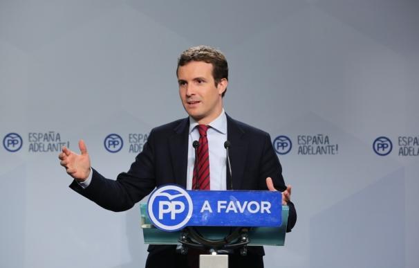 """Casado ve """"normal"""" que Rivera diga que sale a """"ganar"""" al PP: """"Lo extraño sería que dijera lo contrario"""""""