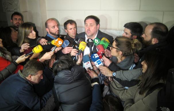 """Junqueras ve posible hacer el referéndum antes de verano ante la actitud """"nada sensible"""" del Estado"""