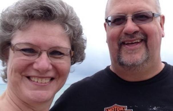 Donna Penner, junto a su marido, Brian Penner.