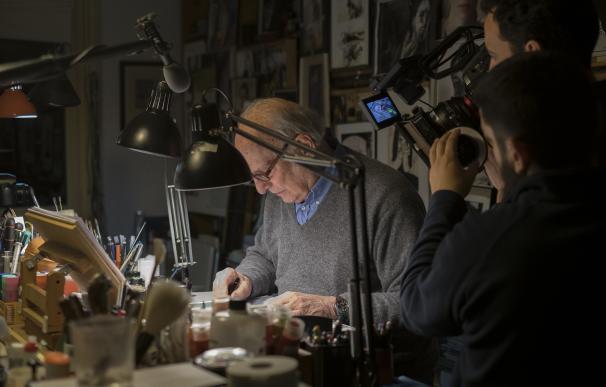 """Viscarret retrata a Carlos Saura: """"Necesito un documental para reflejar lo apabullante que es su filmografía"""""""