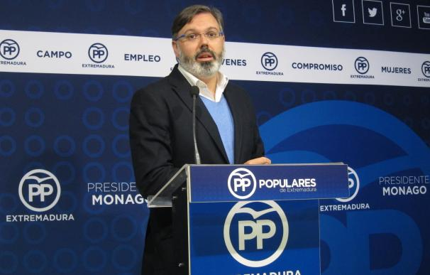 """El PP destaca la """"preocupación"""" del Gobierno español para que haya inversiones """"importantes"""" en Extremadura"""