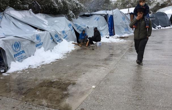 Tercer inmigrante muerto en una semana en un campo de refugiados en Lesbos