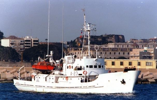 El buque hidrográfico Antares realiza un estudio de las profundidades marinas en Málaga hasta diciembre