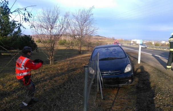 Una conductora herida al salirse de la vía en Fontellas