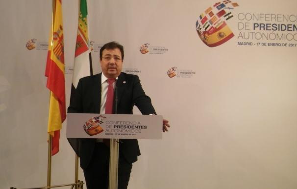 """Extremadura valora el """"deseo de alcanzar acuerdos"""", aunque pide no hacer """"trampas en el solitario"""""""
