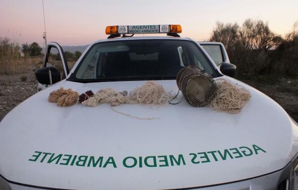 Agentes de Medio Ambiente decomisan seis redes y un hurón en una intervención contra la caza furtiva