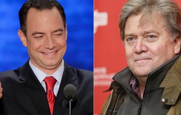 El valorado Preibus y el polémico Bannon, los primeros hombres de Trump