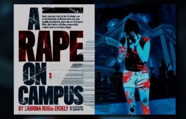 Páginas del artículo del que tuvo que disculparse la revista Rolling Stone.