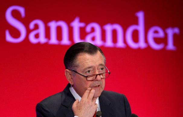 El Santander ganó 6.740 millones de euros hasta septiembre, el 2,8 por ciento menos
