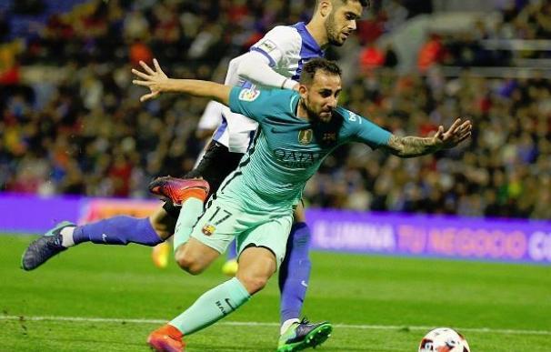El Barça da el cante ante el Hércules (1-1) y el Atlético sentencia al Guijuelo (0-6)