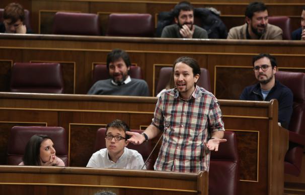 """Pablo Iglesias avisa a Rajoy de que convertir el veto al Congreso en regla es """"una perversión de la democracia"""""""