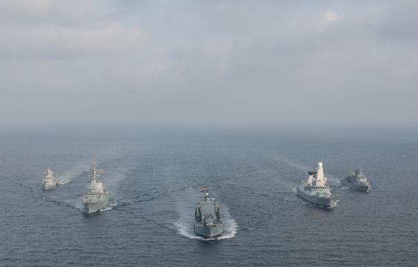 Una fragata española y un destructor británico de la OTAN llegan este viernes a Santander