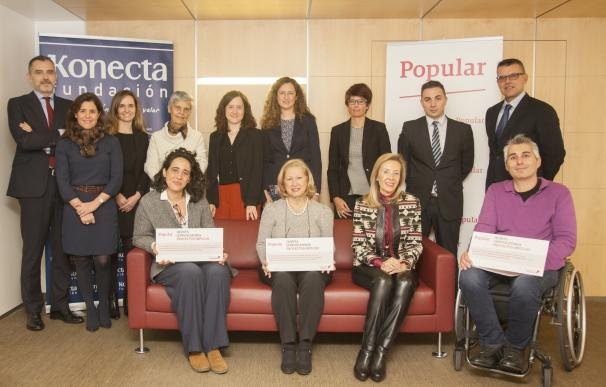 Popular financia 3 proyectos para la integración laboral de personas con discapacidad de Fundación MIFAS, ADELA y AMAFE