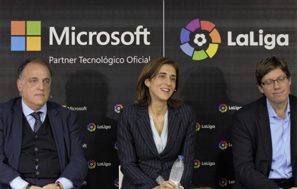 """LaLiga y Microsoft se unen para transformar """"la industria del fútbol español"""""""