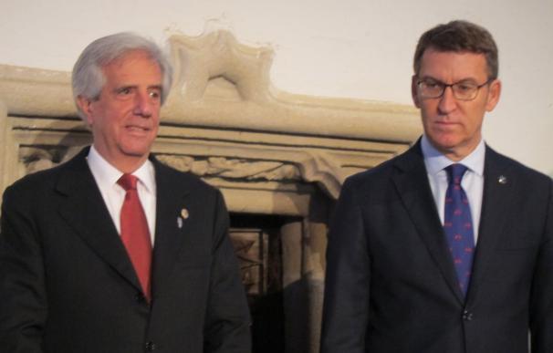"""(AM)Feijóo ofrece la """"estabilidad"""" política de Galicia y de sus empresas para que Uruguay ejecute su plan de inversiones"""