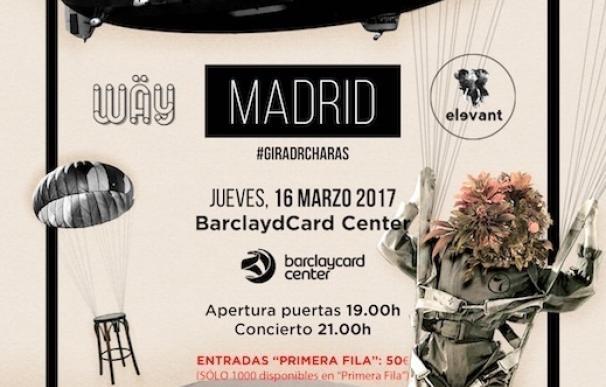 Taburete actuarán el 16 de marzo de 2017 en el BarclayCard Center de Madrid